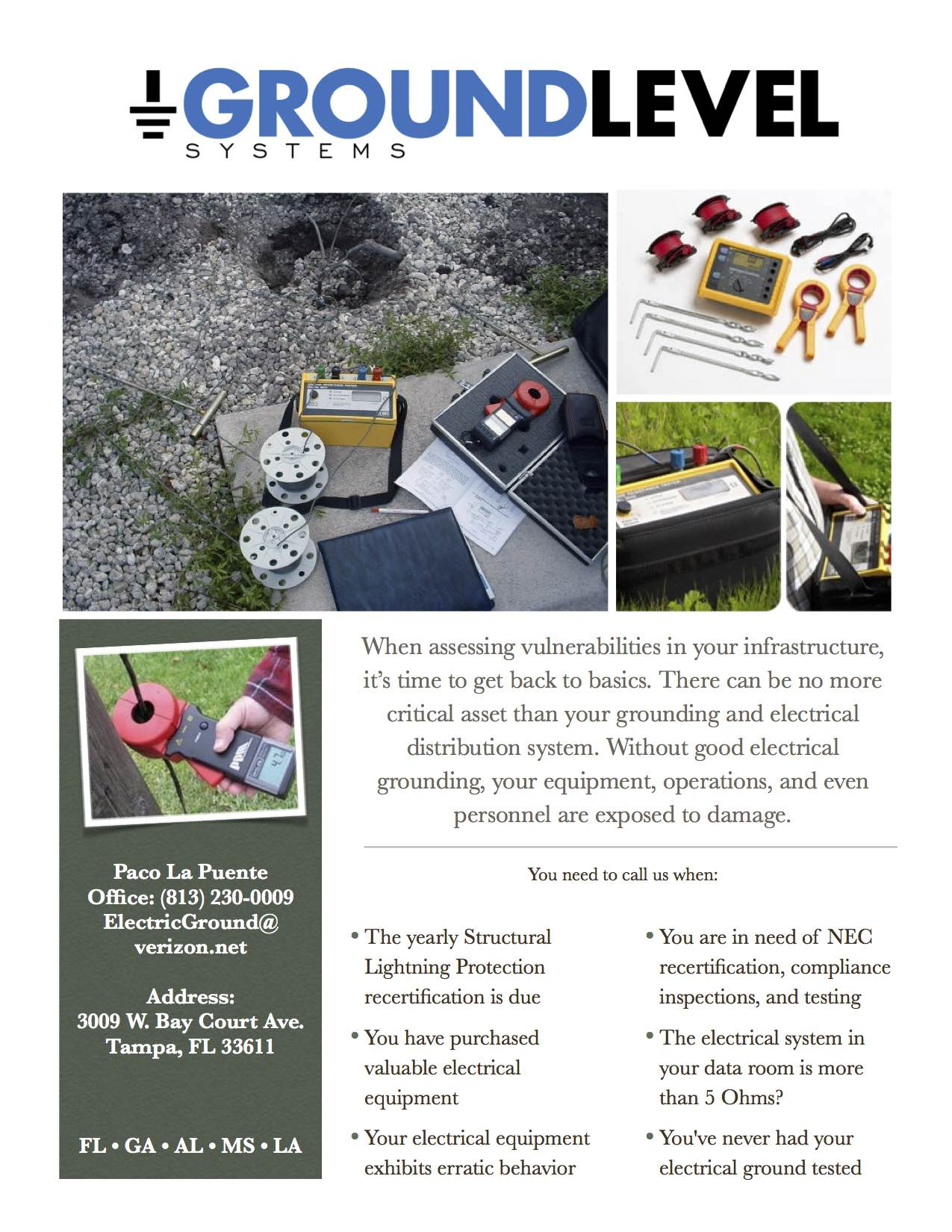 Electrical Ground Testing Flyer